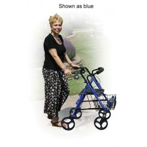 D-Lite Rollator Aluminum Blue With Loop Brakes T/F