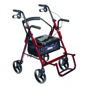 Duet Rollator/Transport Chair Blue