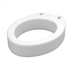 Toilet Seat Riser - Hinged Elongated