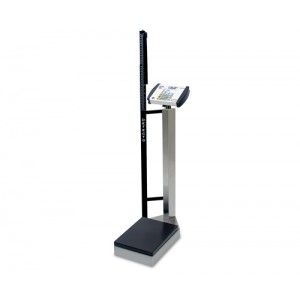 Digital Waist-High Scale With Height Rod