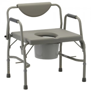 Heavy Duty Drop Arm Commode