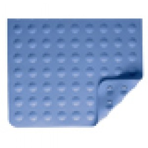 Rubber Bath Mat Blue Circles