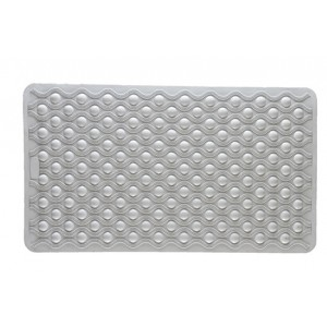 Rubber Bath Mat White Circles