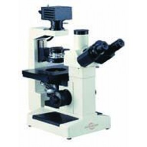 Inverted Trinocular Microscope With Plan Phase Optics