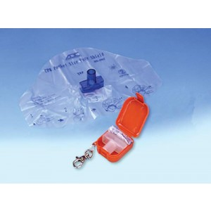 Adsafe CPR Face Shield Plus With Mouthpc & 1-Way Valve Orange