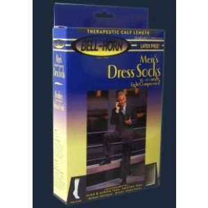 Men's Dress Socks Black 15-20 mm High Large