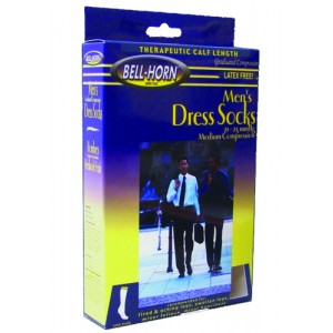 Men's Dress Socks Black 20-30 mm High X-Large