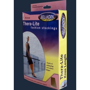 Thera Lite Compression Therapy Knee Stockings Black X-Large 20-30 mm High