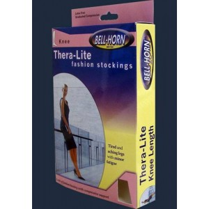TheraLite Compression Therapy Knee Stockings Large 20 - 30 mm High Taupe