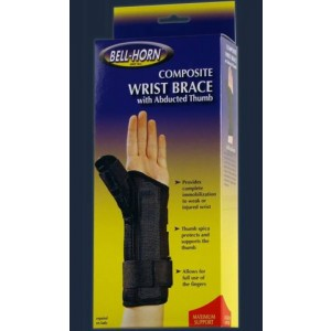 Composite Wrist Brace with Abducted Thumb Large Left