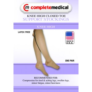 X-Firm Surgical Weight Stockings X-Large 20-30mm High Below Knee Open Toe Black
