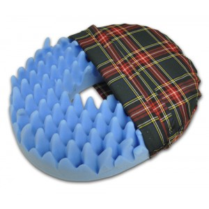 "Convoluted Foam Softeze Ring 18"" x 15 1/8 Plaid Cover"
