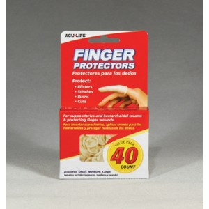 Finger (Protectors) Cots 40 Pack Assorted