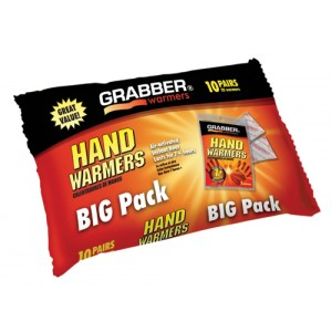 Arthritis Hand Warmers Pack/10 J-Hook Poly Bag 3 x 8.5