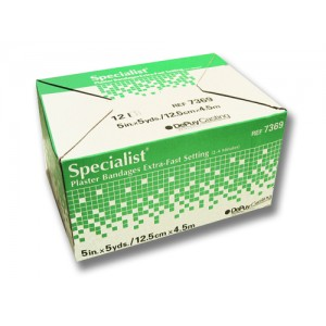Specialist Plaster Bandages Fast Setting 5 x5 Yards /12