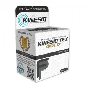 Kinesio Gold New Black Reg. Roll 2 x 16.4' 6/Box