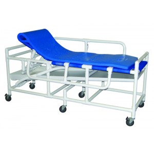 Shower Stretcher (Gurney) PVC 3-Position Elevated Headrest