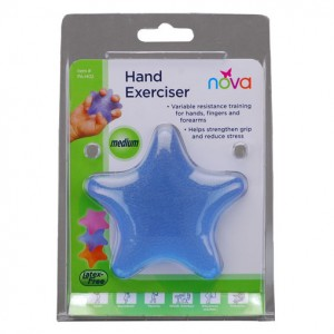 Hand Squeeze Star Medium Blue