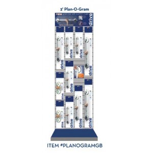 Plan O Gram Grab Bar 2' Contains 20 Assorted Suction Bars
