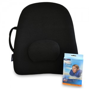 Obus Lowback Backrest Support & Air Travel Pillow Set