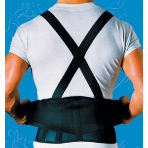 9 Back Belts With Suspenders Black X-Large Sport-Aid