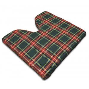 Coccyx Wheelchair Cushion Foam Plaid 16 x 18 x 2