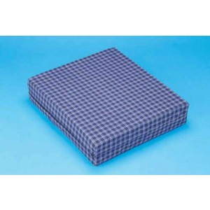 Foam Wheelchair Cushion Plaid 18 x 20 x 3