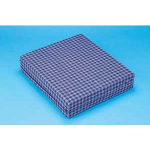 Wheelchair Cushion 16 x18 x4 With Rip Stop Cover Navy Plaid