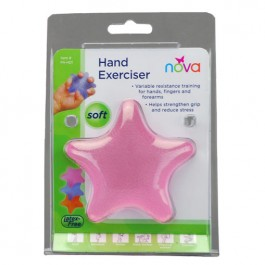 Hand Squeeze Star Soft Pink