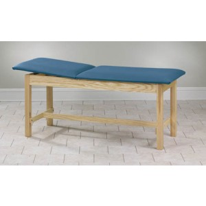 Treatment Table H-Brace Rising Top Without Shelf 24x72x31