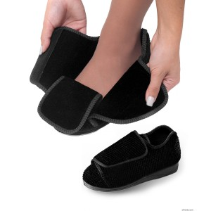 Womens Extra Extra Wide Width Adaptive Slippers - Diabetic & Edema