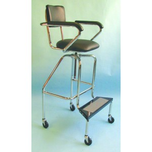 Whirlpool Chair - Low-Boy With Wheels