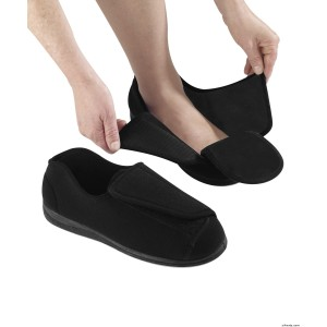 Mens Extra Extra Wide Slippers - Swollen Feet - Diabetic & Edema