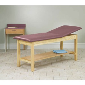 H-Brace Treatment Table Rising Top With Shelf 30x72x31