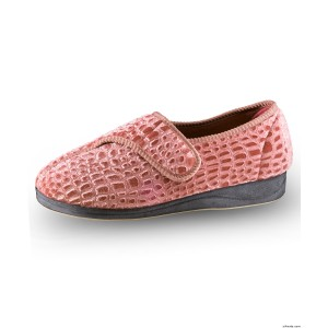 Extra Wide Womens VELCRO Slippers With VELCRO Brand Strap