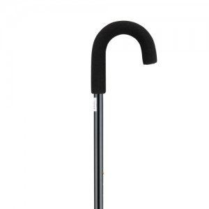Cane Curved Handle Black