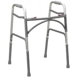 Double-Button Ex-Wide Junior Folding Walker (Bariatric)