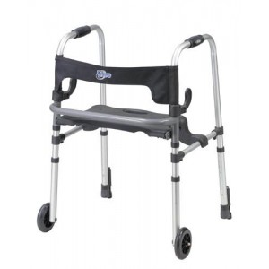 Clever-Lite Walker With Seat & Push-Down Brakes