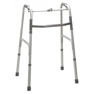 Deluxe One Button Folding Walker Adult