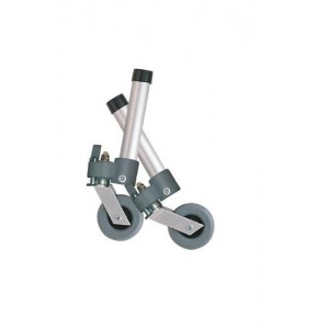 Combination Swivel/Fixed Wheels 3 With Lock and Rear Glides (Pair)