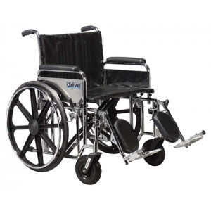 Wheelchair Ex. Heavy Duty 24 Detachable Full Arms & S/A Footrests