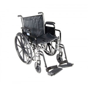 Wheelchair Economy Removable Full Arms With SDF Dual Axle 18