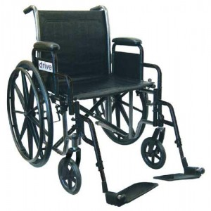 Wheelchair Economy Fixed Arms 16 With Swing-Away Footrests
