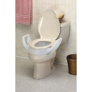 Elevated Toilet Seat With Arms Standard 19 Wide