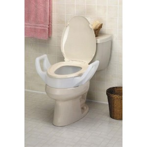 Elevated Toilet Seat With Arms Elongated 19 Wide