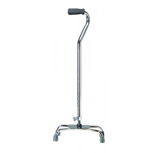 Quad Cane-Small Base With Vinyl Grip