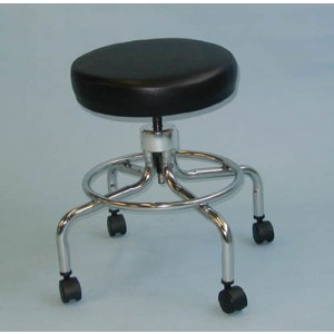 Classic Doctors Stool Without Back With Foot Ring & Casters