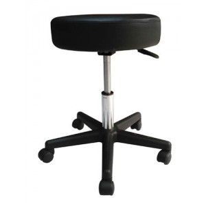 Pneumatic Doctors Stool Without Back Without Foot Ring Black