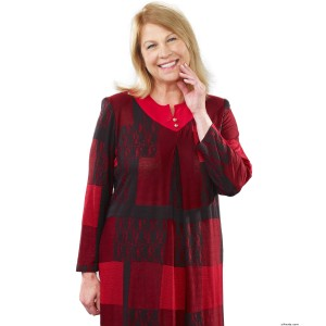 Dressy Fashions - Warm Adaptive Dress For Women - Wrap Back