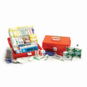 Trauma Kit Portable with Orange Co-Polymer Case